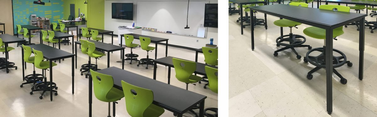 Corilam Adjustable Desk Height Classroom