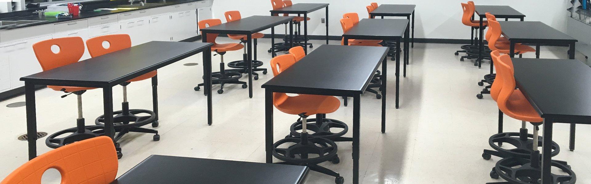 Corilam Adjustable Desk Height Classroom Lab