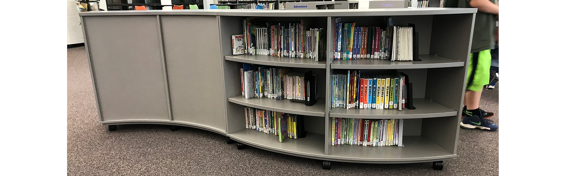 CFC Educational Curved Bookcases Feature